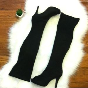 Shoes - Black Over the Knee Boots